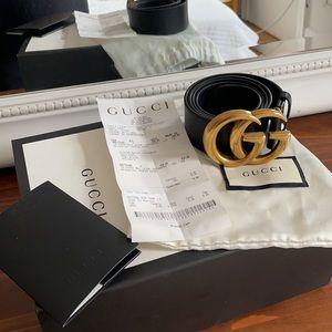 Authentic Gucci Double G Belt